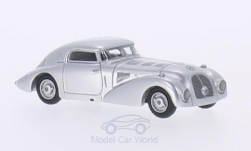 Modelcar - <strong>Mercedes</strong> 540 K streamline car, silver, 1938<br /><br />BoS-Models, 1:87<br />No. 209763