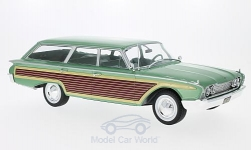 Modelcar - <strong>Ford</strong> Country Squire, metallic-light green/wood optics, 1960<br /><br />MCG, 1:18<br />No. 209953