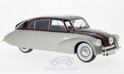 Modellauto - <strong>Tatra</strong> 87, silber/dunkelrot, 1937<br /><br />MCG, 1:18<br />Nr. 209979