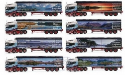 Modellauto - <strong>Scania</strong> R HL, RHD, Malcolm Logistics, 8er-Set: The Colin Prior Collection, Schubboden-SZ<br /><br />Corgi, 1:50<br />Nr. 210103