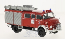 Modelcar - <strong>Mercedes</strong> L 911 Metz B/36, red, volunteers fire brigade Marlesreuth, Lang with Rolltor, 1981<br /><br />Neo, 1:43<br />No. 210282