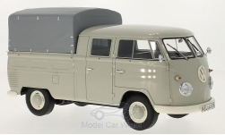 Modelcar - <strong>VW</strong> T1, light grey, double cabin with cover, 1960<br /><br />Premium ClassiXXs, 1:18<br />No. 210293