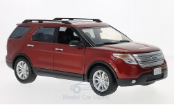Modellauto - <strong>Ford</strong> Explorer XLT, dunkelrot, 2015<br /><br />Motormax, 1:18<br />Nr. 210408