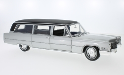 Modellauto - <strong>Cadillac</strong> S&S Limousine, silber/schwarz, 1966<br /><br />Greenlight Precision, 1:18<br />Nr. 210742