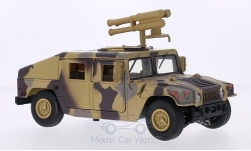 Modellauto - <strong>Hummer</strong> Humvee, mit Starburst Raketenwerfer, camouflage<br /><br />Motormax, 1:24<br />Nr. 210951