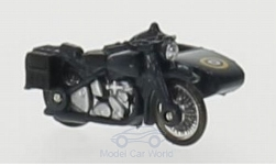 Modelcar - <strong>BSA</strong> Motorbike, blue, RAF, with sidecar<br /><br />Oxford, 1:76<br />No. 211188
