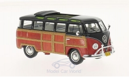 Modellauto - <strong>VW</strong> T1 Samba, zwart/Houtlook, Woody<br /><br />Schuco / Pro.R, 1:43<br />Nr. 211455