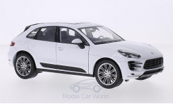 ModelCar - <strong>Porsche</strong> Macan Turbo, weiss<br /><br />Welly, 1:24<br />No. 211478