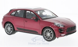 ModelCar - <strong>Porsche</strong> Macan Turbo, metallic-rot<br /><br />Welly, 1:24<br />No. 211479