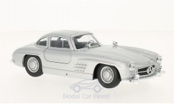 Modellauto - <strong>Mercedes</strong> 300 SL (W198), silber<br /><br />Welly, 1:24<br />Nr. 211485