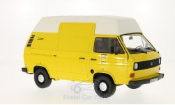 Modelcar - <strong>VW</strong> T3 high roof box, yellow/matt-white, DBP - German Bundespost, 1979<br /><br />Premium ClassiXXs, 1:18<br />No. 211643