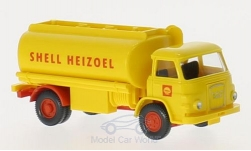 Modelcar - <strong>MAN</strong> 415 tank truck, Shell heating oil, Series 800<br /><br />Wiking / PMS, 1:87<br />No. 212276