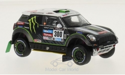 Modelcar - <strong>Mini</strong> All 4 Racing, No.300, Rallye Dakar, S.Peterhansel/J.P.Cottret, 2014<br /><br />IXO, 1:43<br />No. 213292