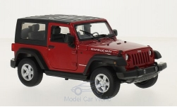 Modellauto - <strong>Jeep</strong> Wrangler, rot<br /><br />Welly, 1:24<br />Nr. 213369