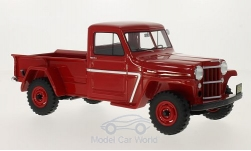 Modelcar - <strong>Jeep</strong> Willys Pick Up, red, 1954<br /><br />BoS-Models, 1:18<br />No. 213555