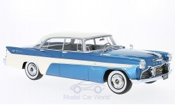 Modelcar - <strong>Desoto</strong>  Firedome 4-Door Seville, metallic-blue/white, 1956<br /><br />BoS-Models, 1:18<br />No. 213556