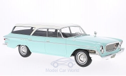 Modellauto - <strong>Chrysler</strong> Newport Town & Country Wagon, helltürkis/weiss, 1962<br /><br />BoS-Models, 1:18<br />Nr. 213557