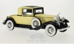 voiture miniature - <strong>Packard</strong> 902 Standard huit Coupe, jaune clair/noire, 1932<br /><br />BoS-Models, 1:18<br />N° 213614