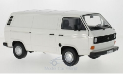 Modelcar - <strong>VW</strong> T3a, white, box wagon, 1979<br /><br />BoS-Models, 1:18<br />No. 213615