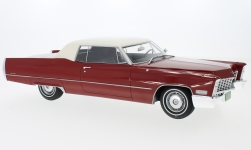 Modelcar - <strong>Cadillac</strong> DeVille Coupe, red/white, 1967<br /><br />BoS-Models, 1:18<br />No. 213637