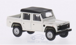 Modellauto - <strong>Land Rover</strong> Defender 110 Double Cab Pickup, weiss/matt-schwarz, RHD, 1990<br /><br />BoS-Models, 1:87<br />Nr. 213687