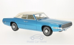 Modelcar - <strong>Ford</strong> Thunderbird Landau, metallic-blue/white, 1968<br /><br />BoS-Models, 1:18<br />No. 213710