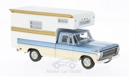Modelcar - <strong>Ford</strong> F-100, metallic-light blue/beige, Camper, 1968<br /><br />Neo, 1:43<br />No. 213726