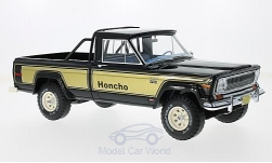 Modelcar - <strong>Jeep</strong> J10 Honcho, black/gold, 1976<br /><br />BoS-Models, 1:18<br />No. 213740