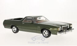 Modelcar - <strong>Ford</strong> Ranchero, metallic-dark green, 1979<br /><br />BoS-Models, 1:18<br />No. 214151