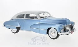 Modelcar - <strong>Cadillac</strong> series 62 Club Coupe, metallic-light blue/light grey, 1946<br /><br />BoS-Models, 1:18<br />No. 214157