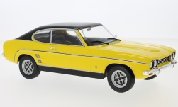 Modelcar - <strong>Ford</strong> Capri MKI 3000 GXL, yellow/black, 1973<br /><br />MCG, 1:18<br />No. 214603