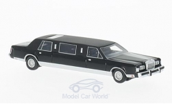 ModelCar - <strong>Lincoln</strong> Town Car Stretchlimousine, schwarz, 1985<br /><br />BoS-Models, 1:87<br />No. 214782