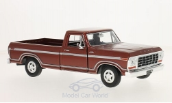 ModelCar - <strong>Ford</strong> F-150 Custom, metallic-dunkelrot, 1979<br /><br />Motormax, 1:24<br />No. 214936
