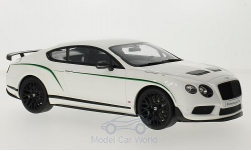 Modelcar - <strong>Bentley</strong> Continental GT 3-R, white/Decorated<br /><br />GT Spirit, 1:18<br />No. 215081