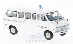 Modelcar - <strong>Dodge</strong> sportsman, San Diego Police Ambulance, 1973<br /><br />Neo, 1:43<br />No. 215099