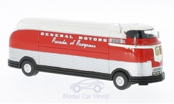 Modelcar - <strong>GM</strong> Futurliner, red/white, GM Parade of Pregress, 1953<br /><br />BoS-Models, 1:87<br />No. 215125
