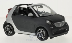 Modellauto - <strong>Smart</strong> fortwo Converteerbaar (A453), mattdunkelgrau/zilver, Softtop is bij<br /><br />I-Norev, 1:18<br />Nr. 215619