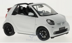 Modelcar - <strong>Smart</strong> fortwo Cabrio (A453), weiss, Softtop liegt bei<br /><br />I-Norev, 1:18<br />No. 215620