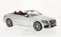 Modelcar - <strong>Mercedes</strong> C-Class (A205) Convertible, silver, Softtop lays Bei<br /><br />I-iScale, 1:18<br />No. 215634