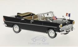 ModelCar - <strong>Simca</strong> Chambord V-8 Presidentielle, schwarz, Charles de Gaulle, ohne Vitrine, 1961<br /><br />SpecialC-56, 1:43<br />No. 216208
