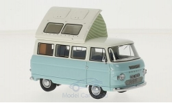 Modellauto - <strong>Commer</strong> Dormobile Coaster, hellblau/weiss, 1972<br /><br />AutoCult, 1:43<br />Nr. 216239