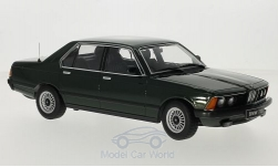 Modelcar - <strong>BMW</strong> 733i (E23), metallic-dark green, doors and hoods are nicht to open, 1977<br /><br />KK-Scale, 1:18<br />No. 216251