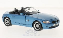 Modellauto - <strong>BMW</strong> Z4, metallic-blau, 2003<br /><br />Welly, 1:24<br />Nr. 216549