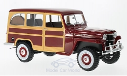 Modelcar - <strong>Jeep</strong> Willys Station Wagon, dark red/wood optics, 1955<br /><br />Lucky Die Cast, 1:18<br />No. 217009