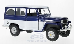 Modelcar - <strong>Jeep</strong> Willys Station Wagon, blue/white, 1955<br /><br />Lucky Die Cast, 1:18<br />No. 217010
