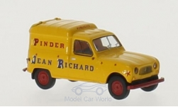 Modelcar - <strong>Renault</strong> R4 Fourgonnette,  Pinder Jean Richard<br /><br />Brekina, 1:87<br />No. 217185