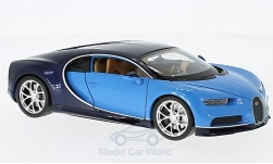 Modelcar - <strong>Bugatti</strong> Chiron, light blue/dark blue, 2016<br /><br />Welly, 1:24<br />No. 217201