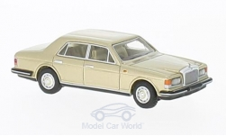 Modelcar - <strong>Rolls Royce</strong> silver spirit Mark I, metallic-light beige, 1980<br /><br />BoS-Models, 1:87<br />No. 217293