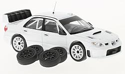 Modelcar - <strong>Subaru</strong> Impreza S12B, white, Plain Body Version, including 4 Ersatzräder, 2008<br /><br />IXO, 1:43<br />No. 217325