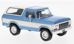 Modelcar - <strong>Ford</strong> Bronco, metallic-blue/white, 1978<br /><br />Premium X, 1:43<br />No. 217338